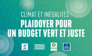 Budget : une double évaluation pour concilier transition écologique et justice sociale