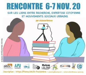 Rencontre sur les liens entre recherche, expertise citoyenne et mouvements sociaux urbains